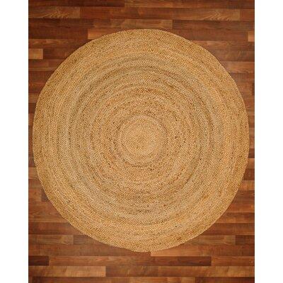 Purwa Hand-Braided Beige Area Rug Rug Size: Round 8
