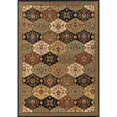 Puthuppally Hand-Tufted Rust/Black Area Rug Rug Size: Rectangle 910 x 1210