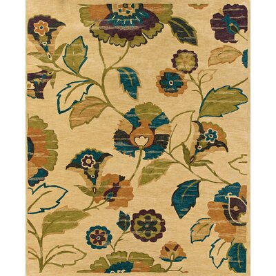 Rajam Hand-Tufted Beige Area Rug Rug Size: Rectangle 76 x 96