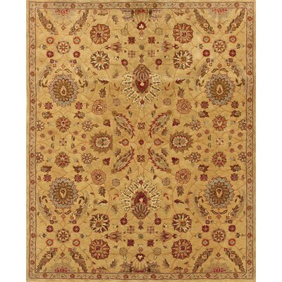 Rajauri Hand-Tufted Gold Area Rug Rug Size: 83 x 113