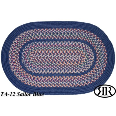Ranibennur Hand-Crafted Blue Area Rug Rug Size: Round 6'
