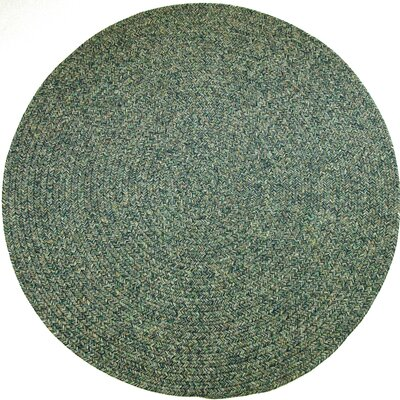 Rayadurg Denim Blue Indoor/Outdoor Area Rug Rug Size: Round 4