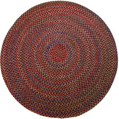 Rayada Red Indoor/Outdoor Area Rug Rug Size: Round 4