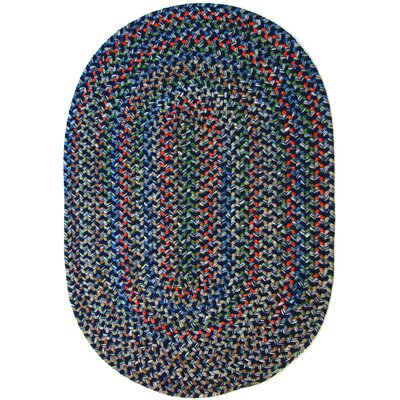 Rehli Blue Indoor/Outdoor Area Rug Rug Size: Oval 4 x 6