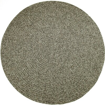 Renigunta Gray Indoor/Outdoor Area Rug Rug Size: Round 4