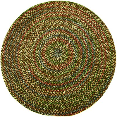 Renukoot Brown Indoor/Outdoor Area Rug Rug Size: Round 4