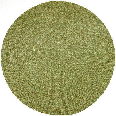 Reoti Green Indoor/Outdoor Area Rug Rug Size: Round 4