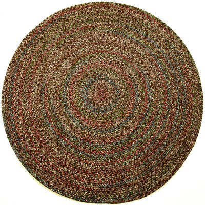 Valla Brown Indoor/Outdoor Area Rug Rug Size: Round 4
