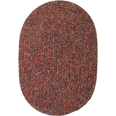 Revelganj Red Indoor/Outdoor Area Rug Rug Size: Oval 2 x 3