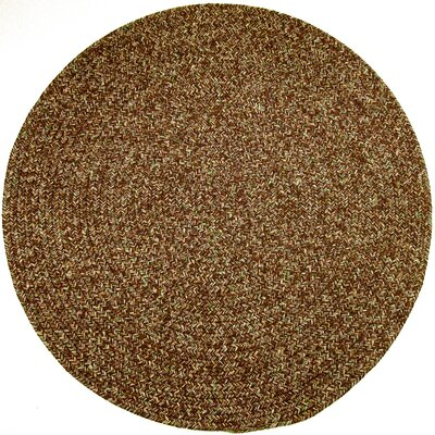 Rishikesh Brown Indoor/Outdoor Area Rug Rug Size: Round 4
