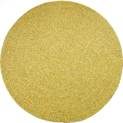 Risod Oatmeal Tweed Indoor/Outdoor Area Rug Rug Size: Round 4