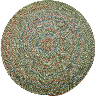Rosera Green Indoor/Outdoor Area Rug Rug Size: Round 4