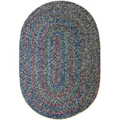 Rudauli Blue Indoor/Outdoor Area Rug Rug Size: Round 4