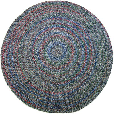 Rudauli Blue Indoor/Outdoor Area Rug Rug Size: Round 6