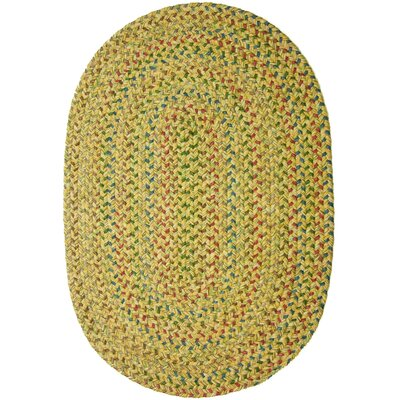 Rupnagar Green/Yellow Indoor/Outdoor Area Rug Rug Size: Oval 2 x 3