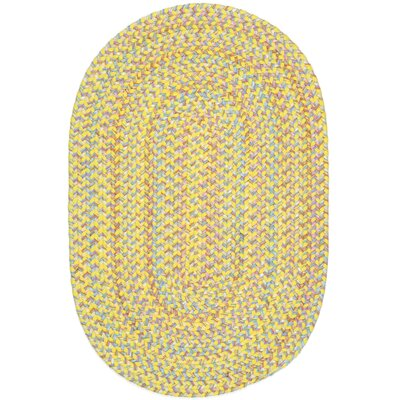 Sabalgarh Yellow Indoor/Outdoor Area Rug Rug Size: Oval 2 x 4