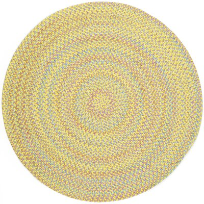 Sabalgarh Yellow Indoor/Outdoor Area Rug Rug Size: Round 4