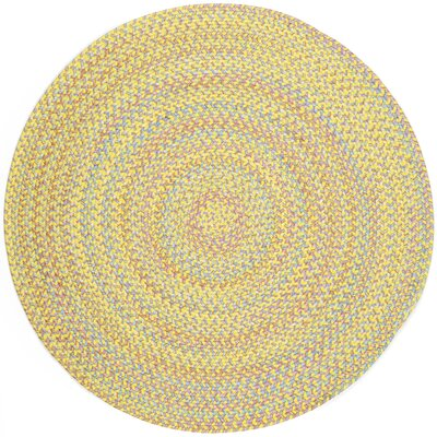 Sabalgarh Yellow Indoor/Outdoor Area Rug Rug Size: Round 6
