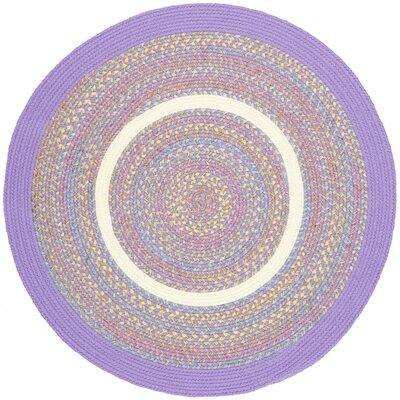 Sadabad Purple Indoor/Outdoor Area Rug Rug Size: Round 6'