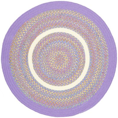 Sadabad Purple Indoor/Outdoor Area Rug Rug Size: Round 4