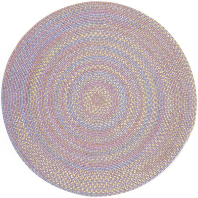 Sadri Violet Indoor/Outdoor Area Rug Rug Size: Round 4