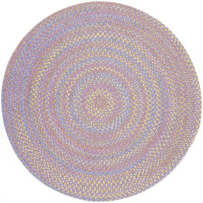 Sadri Violet Indoor/Outdoor Area Rug Rug Size: Round 6