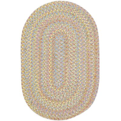 Safidon Beige Indoor/Outdoor Area Rug Rug Size: Oval 8 x 11