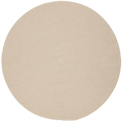 Safipur Sand Beige Indoor/Outdoor Area Rug Rug Size: Round 4