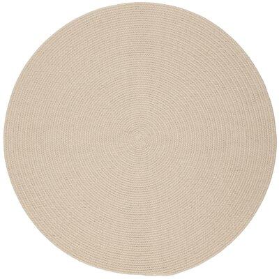 Safipur Sand Beige Indoor/Outdoor Area Rug Rug Size: Round 6