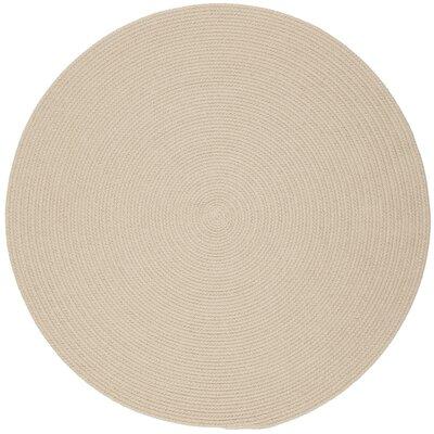 Safipur Sand Beige Indoor/Outdoor Area Rug Rug Size: Round 8