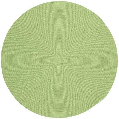 Sagara Lime Indoor/Outdoor Area Rug Rug Size: Round 6