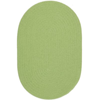 Sagara Lime Indoor/Outdoor Area Rug Rug Size: Oval 2 x 6