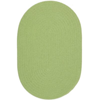 Sagara Lime Indoor/Outdoor Area Rug Rug Size: Oval 2 x 4