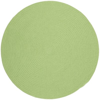 Sagara Lime Indoor/Outdoor Area Rug Rug Size: Round 8