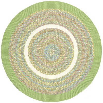Sagwara Lime Indoor/Outdoor Area Rug Rug Size: Round 6