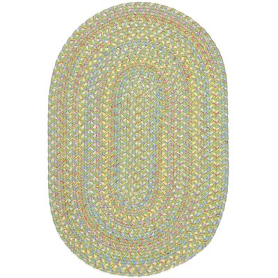 Sahaspur Lime Indoor/Outdoor Area Rug Rug Size: Oval 2 x 6