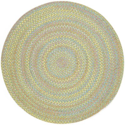 Sahaspur Lime Indoor/Outdoor Area Rug Rug Size: Round 4