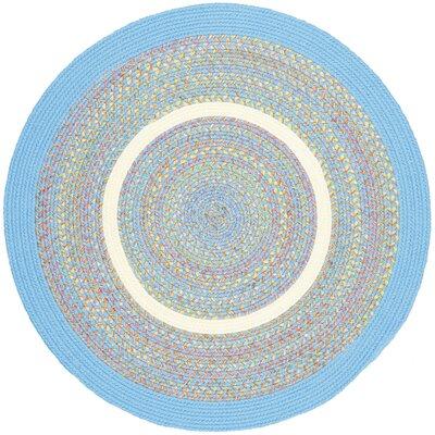 Sahaswan Blue Indoor/Outdoor Area Rug Rug Size: Round 4