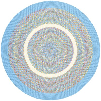 Sahaswan Blue Indoor/Outdoor Area Rug Rug Size: Round 8