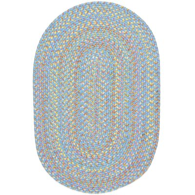 Sahawar Blue Indoor/Outdoor Area Rug Rug Size: Oval 2' x 3'