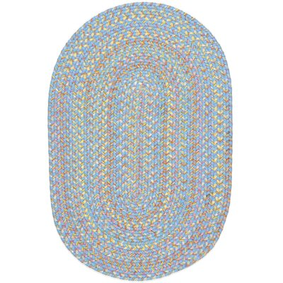 Sahawar Blue Indoor/Outdoor Area Rug Rug Size: Oval 4' x 6'