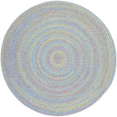 Sahawar Blue Indoor/Outdoor Area Rug Rug Size: Round 4