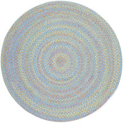 Sahawar Blue Indoor/Outdoor Area Rug Rug Size: Round 6