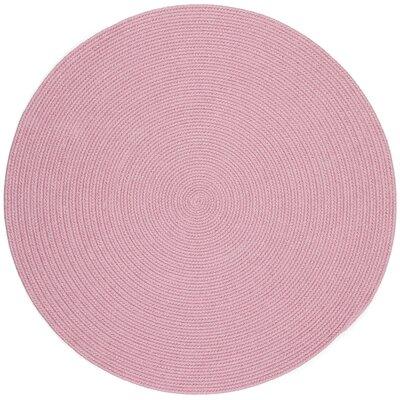 Sahibganj Pink Indoor/Outdoor Area Rug Rug Size: Round 4