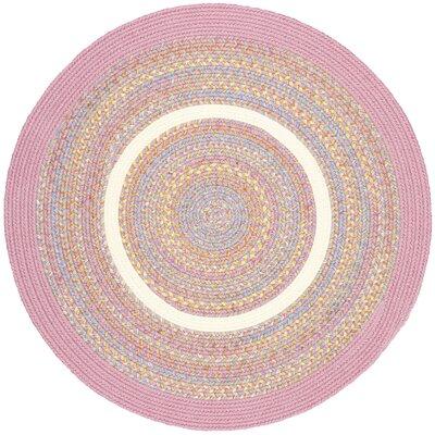 Sahjanwa Pink Indoor/Outdoor Area Rug Rug Size: Round 6