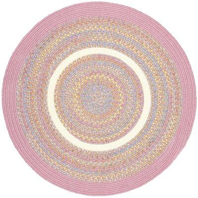 Sahjanwa Sahjanwa Pink Indoor/Outdoor Area Rug Rug Size: Round 4
