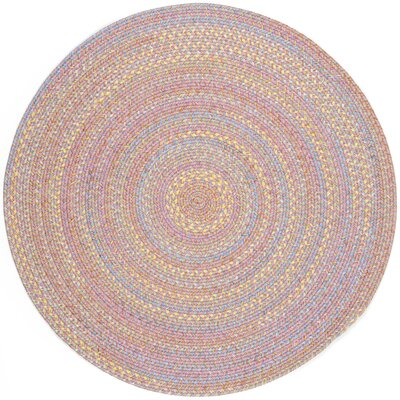 Saidpur Pink Indoor/Outdoor Area Rug Rug Size: Round 6