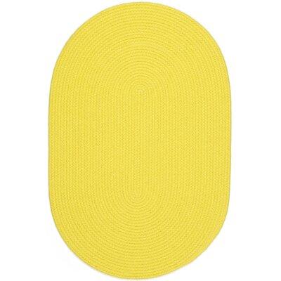Saiha Yellow Indoor/Outdoor Area Rug Rug Size: Oval 2 x 4