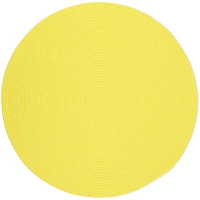 Saiha Yellow Indoor/Outdoor Area Rug Rug Size: Round 4