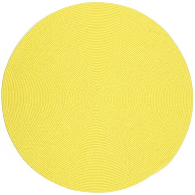 Saiha Yellow Indoor/Outdoor Area Rug Rug Size: Round 6